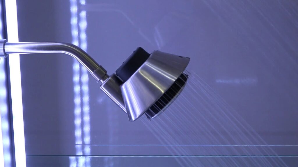 Modern Showerhead with Waterproof Bluetooth Speaker by Kohler