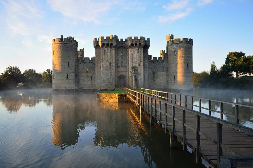 Sturdy and Historic Castel of Bodiam in England
